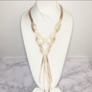 Beautiful Gold Statement Y Necklace